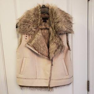 Feaux fur/suede vest